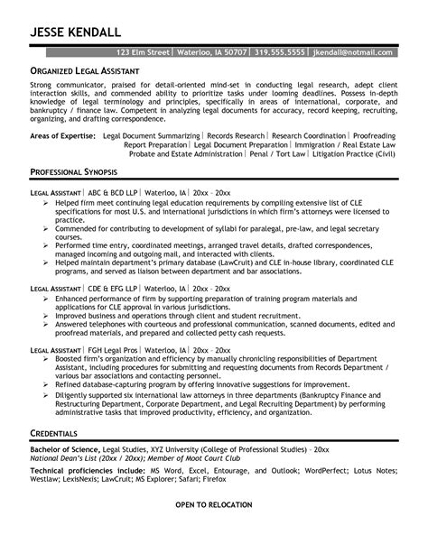 resume litigation paralegal
