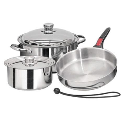 induction cookware piece magma compatible stainless nestable cook starter nesting steel 7pc sets pots pans ind a10 seven boat bar