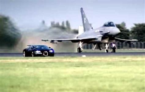 A Batalha Entre O Bugatti Veyron Vs. Euro Fighter