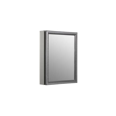 surface mount medicine cabinet lowes shop kohler 20 in x 26 in aluminum metal surface mount and