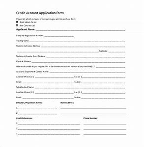 credit application template 32 examples in pdf word With new account application form template
