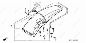 Honda Motorcycle 2003 Oem Parts Diagram For Rear Fender