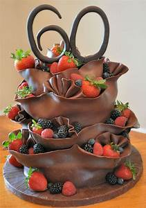 Chocolate And Fruit Birthday Cake - CakeCentral.com