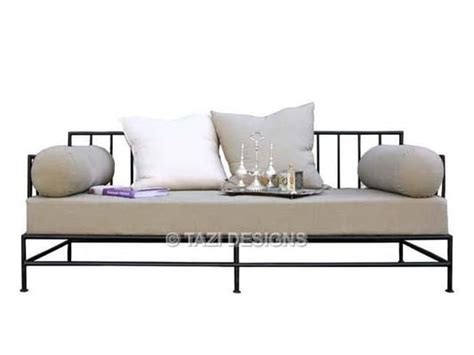 Iron Sofa Set Designs by Iron Daybed In Linen And Outdoor Sofa For Covered Patio