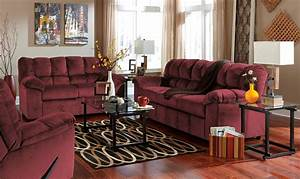 Julson burgundy living room set from ashley 26602 38 35 for Burgundy living room set