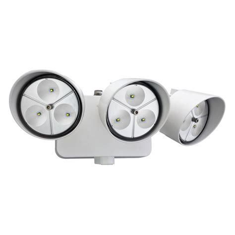 lithonia lighting 3 head white outdoor led wall mount flood light oflr 9ln 120 p wh m2 the