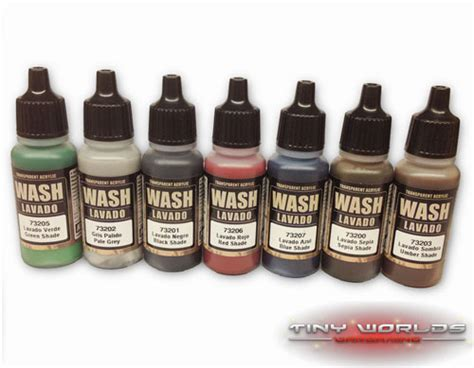 vallejo washes 17ml choose any colour wargames model