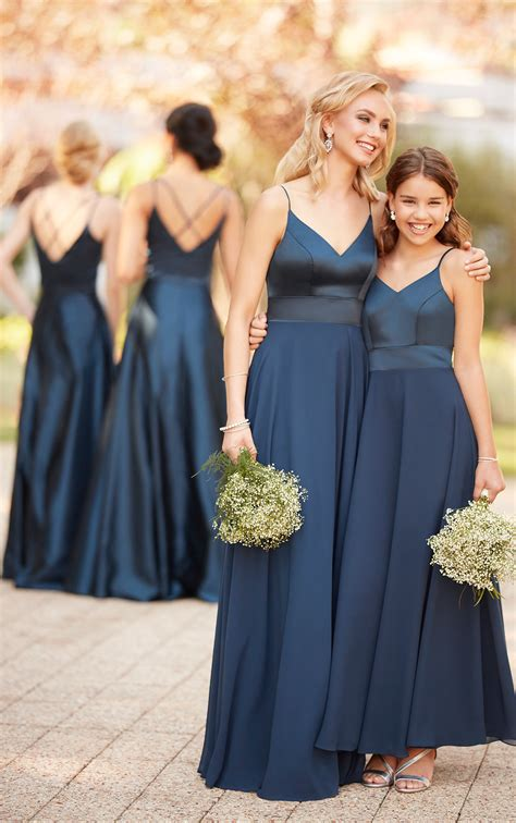 modern satin bridesmaid dress sorella vita bridesmaid
