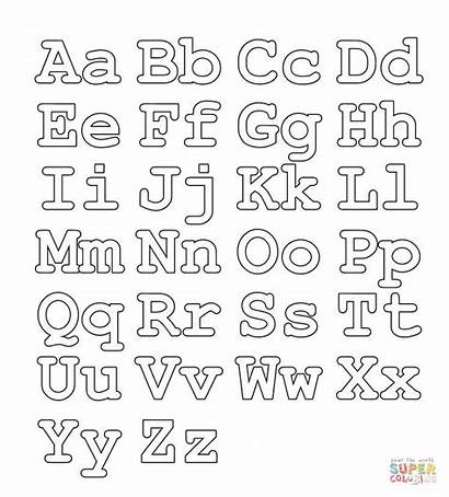 Coloring Alphabet Pages Letters Capital Worksheet Supercoloring