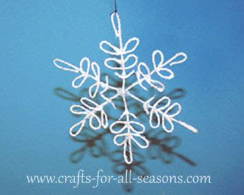 string snowflake craft