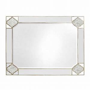 mackenzie mirrored antique trim rectangular 120x90cm With miroir 120 x 90