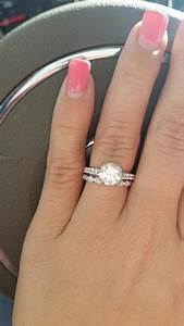 show me your thin spacer bands please weddingbee With spacer between engagement ring and wedding band