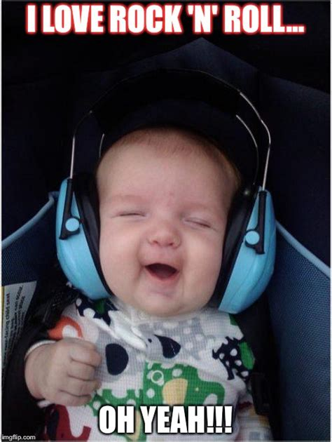 Rock Baby Meme - baby music imgflip