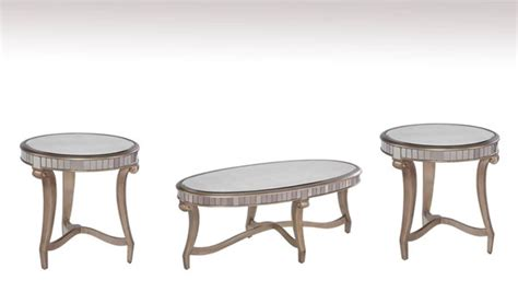 Get 5% in rewards with club o! Celine Silver Wood Glass Coffee Table Set | The Classy Home