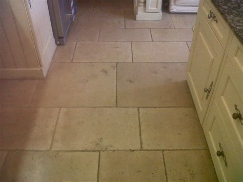 Limestone tiles cleaned and polished in Burton on Trent
