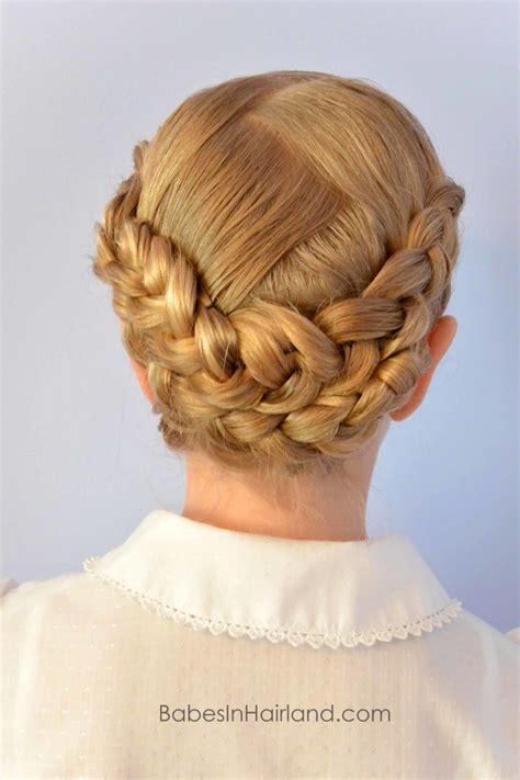dutch braided baptism hairstyle  babesinhairlandcom