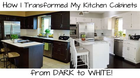 youtube painting kitchen cabinets how to paint kitchen cabinets from dark to white youtube