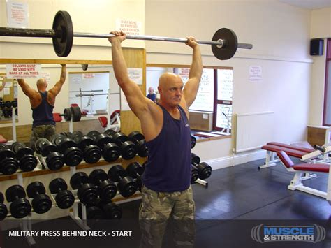 military press  neck video exercise guide tips