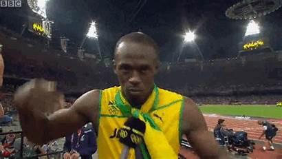Bolt Usain Jamaican Bbc Relay Lani Gifs