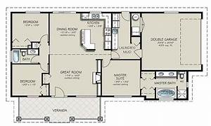 Simple 4 bedroom house plans 4 bedroom 2 bath house plans for Layout for 4 bedroom house