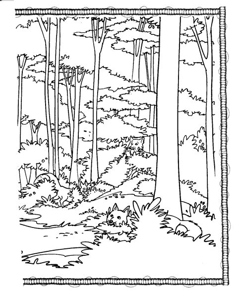 forest coloring pages forest animal coloring pages bestofcoloring