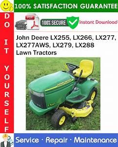 John Deere Lx255  Lx266  Lx277  Lx277aws  Lx279  Lx288