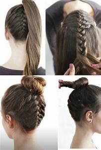 Coiffure Pour Cheveux Mi Longs : une coiffure simple et rapide 56 variantes en photos et vid os ~ Melissatoandfro.com Idées de Décoration