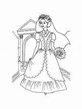 Bride Coloring Pages Printable Mycoloring sketch template