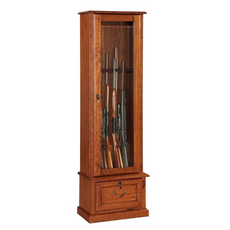 Gun Cabinet by American Furniture Classics 8 Gun Key Locking Gun Cabinet
