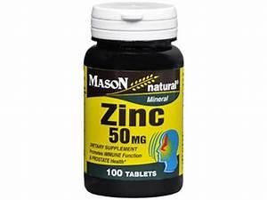 Mason Natural Zinc 50 Mg Dietary Supplement