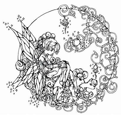 Coloring Gothic Pages Fairies Fairy Printable Getcolorings