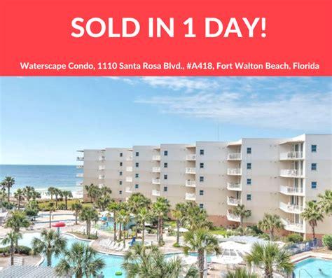 1 Bedroom Beachfront Condo In Destin Fl Waterscape Condo Sells In 1 Day