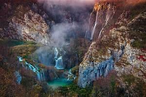 Landscape, Mountains, Waterfall, Hd, Wallpapers, Desktop