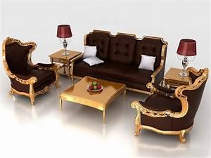 classic living room furniture sets 3d model 3dsmax3ds With living room furniture 3d model free download
