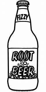 Beer Coloring Bottle Root Pages Drawing Soda Clip Sketch Sprite Clipart Bottles Cola Coca Printable Rootbeer Sheet Alcohol Template Case sketch template