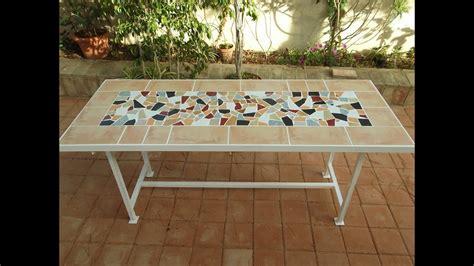 mesa jardin  bardos  baldosas rotas youtube