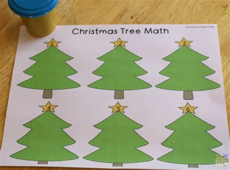 christmas tree math free tree math printables 4 ways to play