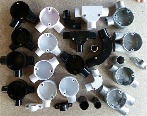 20mm 25mm White Black Pvc Conduit Bends Tee's Boxes