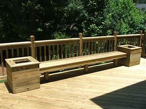 Composite Deck Bench Designs Build Benches W Planters For Back Deck Maybe Add A