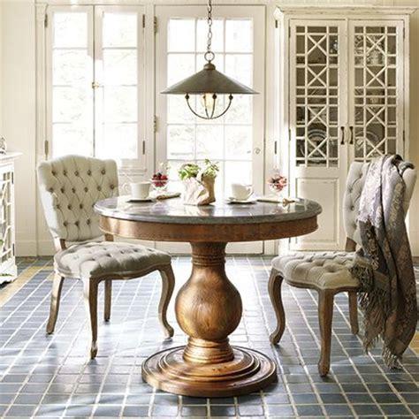 luca   pedestal dining table  bluestone top