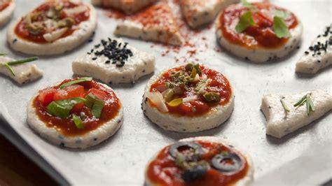 mini canape ideas mini pizzas and canapés the vegan corner