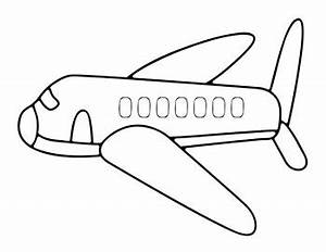 Airplanes pictures for kids clipartsco for Airplane cut out template
