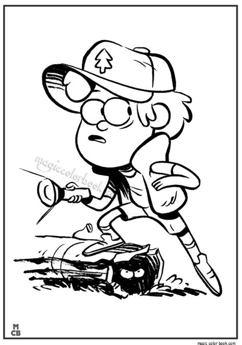 gravity falls coloring pages  images