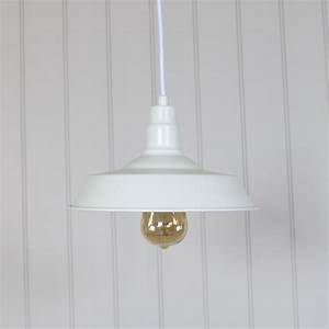 white vintage industrial barn style pendant light fitting With barn style ceiling lights