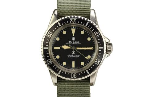 1972 Rolex British Military Submariner Ref 5513 Watch For ...