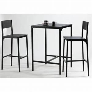 Table Haute Et Tabouret : table de bar haute jardin ~ Teatrodelosmanantiales.com Idées de Décoration