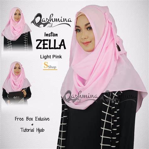 jual jilbab murah zella light pink di lapak salsabila shop