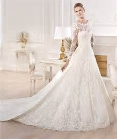 a line wedding dresses with sleeves a line princess bateau neckline sleeve lace wedding dress with detachable