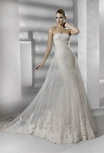 sleek mermaid lace wedding dress onewedcom With la sposa wedding dresses