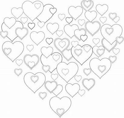 Coloring Heart Hearts Hart Printables Pretty Key